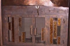Ironhaus Door In Tree Surround With Amber Insets - Custom Door 1