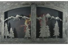 Ironhaus Door Mountain Scene - Custom Door 4