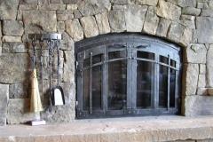 Ironhaus Arched BiFold Door - Rustica Design With Cottage Handles