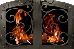 Ironhaus Arched Cabinet Door Distressed Natural - Mediterranean Design With Grande Handles