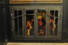 Ironhaus Rectangular BiFold Door - Craftsman Design With Woven Handles