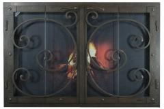 Ironhaus Rectangular BiFold Fullview Outside Door - Mediterranean Design With Sierra Handles