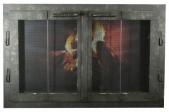 Ironhaus Rectangular BiFold Fullview Outside Door - No Design With Woven Handles