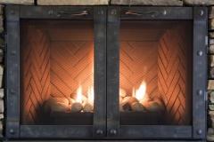 Ironhaus Luxe Cabinet Door - Industrial Iron Design With Cottage Handles