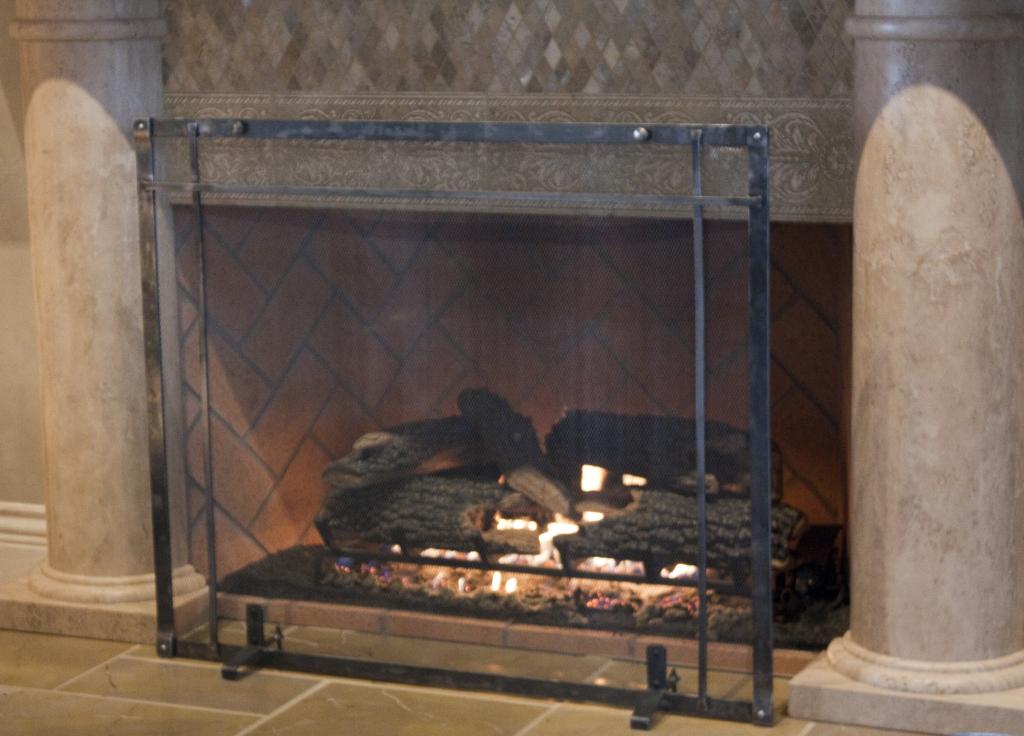 ironhaus screens img screen freestanding doors with door fireplace