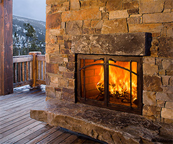 custom outdoor fireplace products
