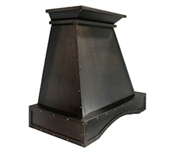 custom metal range hoods