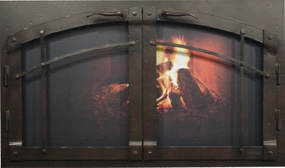 Fireplace Doors Elite Arch Con Rustica ND-Ironhaus