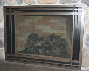 Fireplace cover mission reface