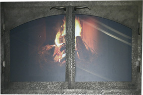 Fireplace doors sil arch cab ND Ironhaus