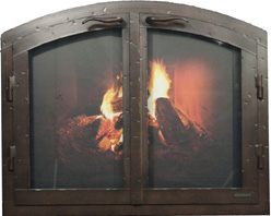 Fireplace doors.arch cab-Ironhaus