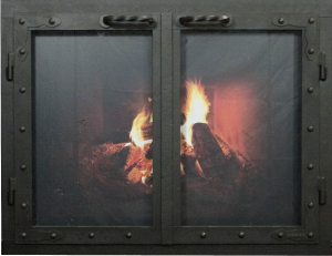 Fireplace doors,Iron rec european dist black Ironhaus