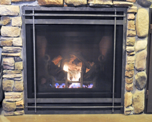 Fireplace saftey screen cover reface