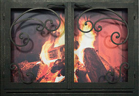 rectangular fireplace doors-Elite New Orleans