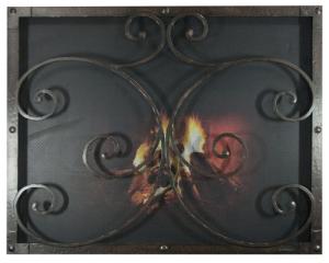 Reface Fireplace Saftey Screen in Mediterranean