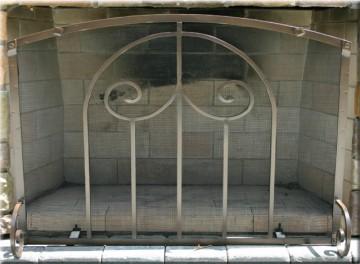 Custom Freestanding Fireplace Screen - Ironhaus