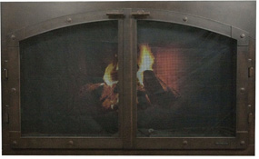 fireplace doors-arc con old world Ironhaus