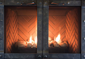rectangular fireplace doors