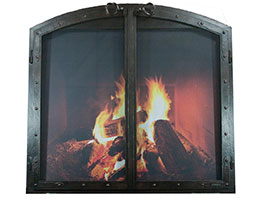 arched fireplace doors