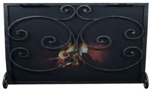 Custom Fireplace Screen FSS Rce Med single-Ironhaus