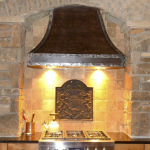 custom copper iron range hood