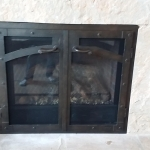 Iron Custom Fireplace door after remodle