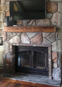 Fireplace reface with panels