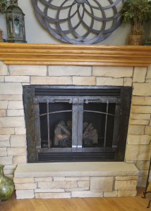 Fireplace reface with panels1