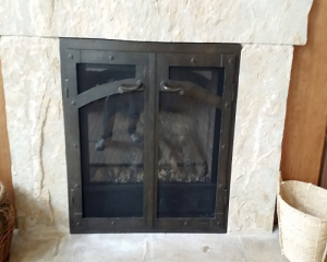 fireplace reface bifold doors 2