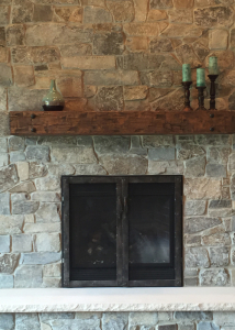 fireplace reface industrial style