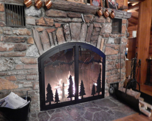 fireplace reface mountain scene