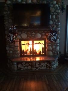 christmas fire