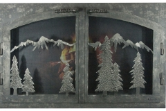 Ironhaus Door Mountain Scene - Custom Door 4