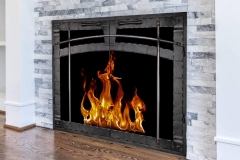 Beartooth Forge masonry fireplace door