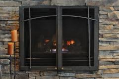 Ironhaus Rectangular Cabinet Door - Craftsman Design With Bottom Mounted Contemporary Handles
