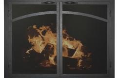 Ironhaus Elegant Cabinet Door - Arch Panels Textured Black
