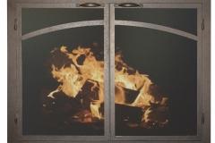 Ironhaus Elegant Cabinet Door - Arch Panels Aged Bronze