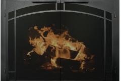 Ironhaus Elegant Fullview - Artisan Silhouette Arch Textured Black