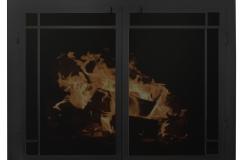 Ironhaus Elegant Rectangular Cabinet Door - Artisan Textured Black