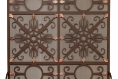 Ironhaus Freestanding Screen with custom design - Burnished Bronze & Oil Rubbed Bronze accents