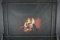 Ironhaus Freestanding Screen Rectangular Single Panel - Mission Design With Tuscan Legs