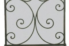 Ironhaus Freestanding Screen Single Panel - Mediterranean Design With Tuscan Legs