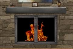 Grayson with Ironhaus Mantel Shelf