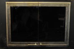 Custom Hamilton design - Blackened Gold finish with Perimeter Trim, Cabinet doors with Contemporary handles