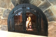 Ironhaus Full Arch Bifold - Old World Design w/ Aspen handles in Burnished Black