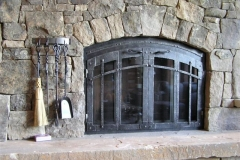 Ironhaus Arched BiFold Door - Rustica Design With Cottage Handles