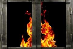 Ironhaus Rectangular Cabinet Door - Saddle Joint Design With Sierra Handles