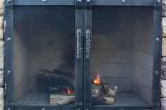 Ironhaus Luxe Rectangular Cabinet Door - Saddle Joint Design With Woven Handles