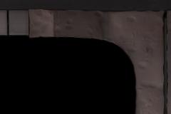 Closeup of Hammered Black Copper handles