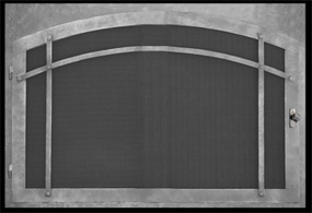 Single Panel Fireplace Doors